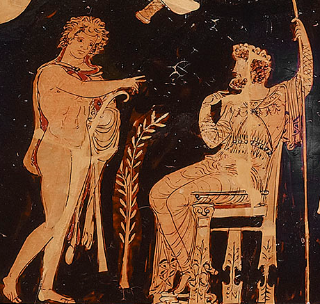Ancient Greek scene as Pythonia