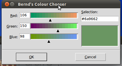 Choosing a Colour with Tkinter and Python
